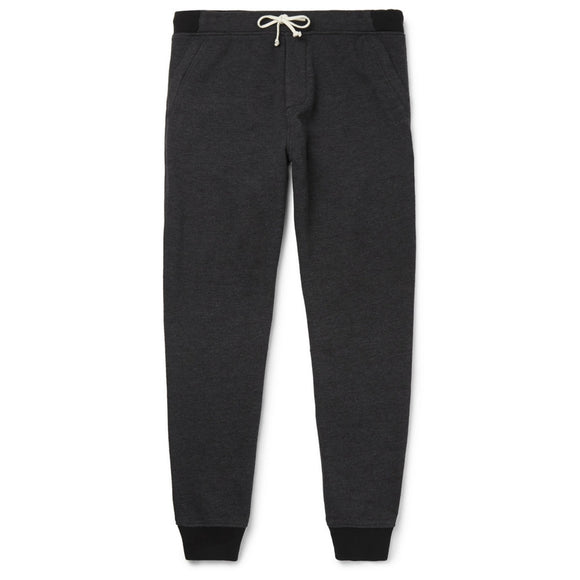 Slim-Fit Tapered Mélange Fleece-Back Jersey Sweatpant