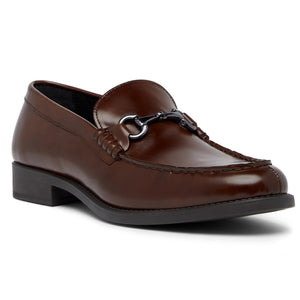Polished Leather Vamp Bit Loafer