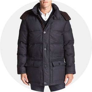 680-Down Fill Quilted Hooded Parka