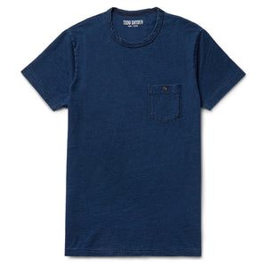 Slim-Fit Indigo-Dyed Slub Cotton-Jersey Tee