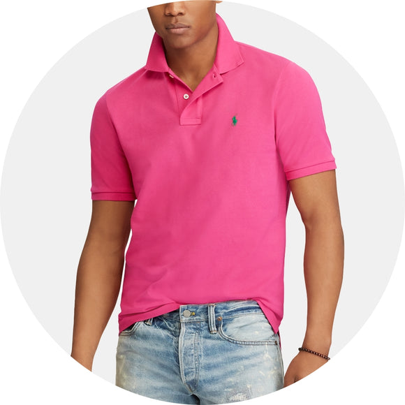 Custom Slim Fit Cotton Mesh Polo