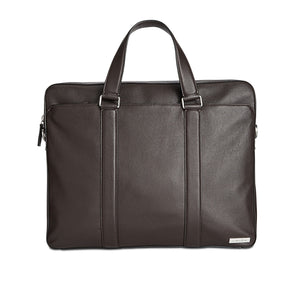Leather Attache Messenger Bag