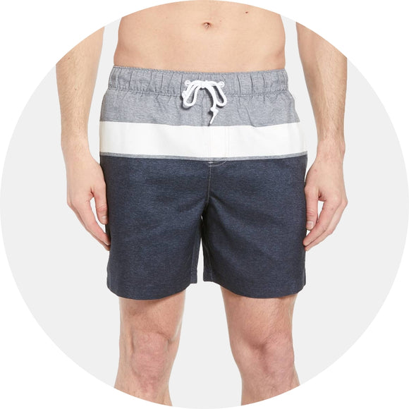 Heathered Colorblock Swim Short