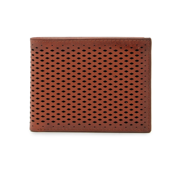 Perforated Leather Wallet