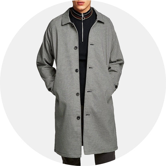 Longline Check Mac Jacket