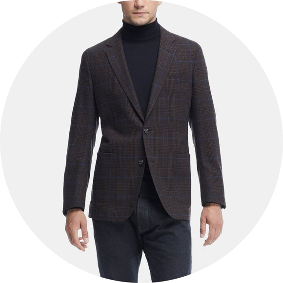 Sutton Unconstructed Plaid Sport Coat