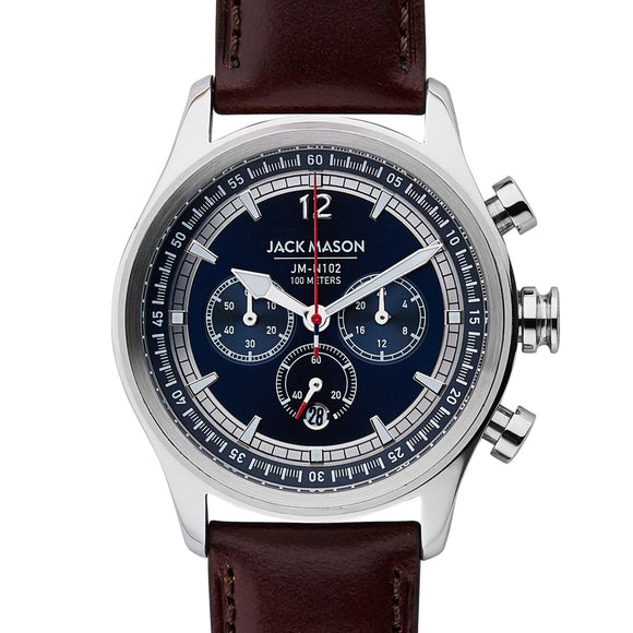 Nautical Chronograph Leather Watch