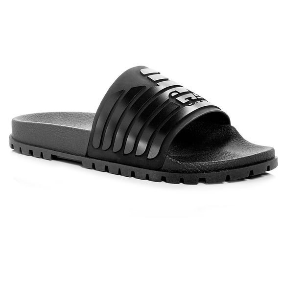 Embossed Logo Slide Sandal