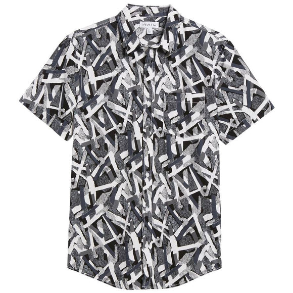 Short Sleeve Print Poplin Shirt