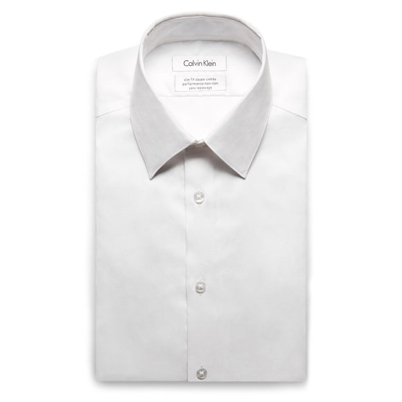 Slim Fit Non-Iron Herringbone Shirt