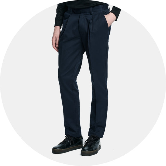 Gordy Pleated Twill Pant