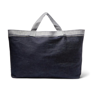 Two-Tone Denim Laundry Bag