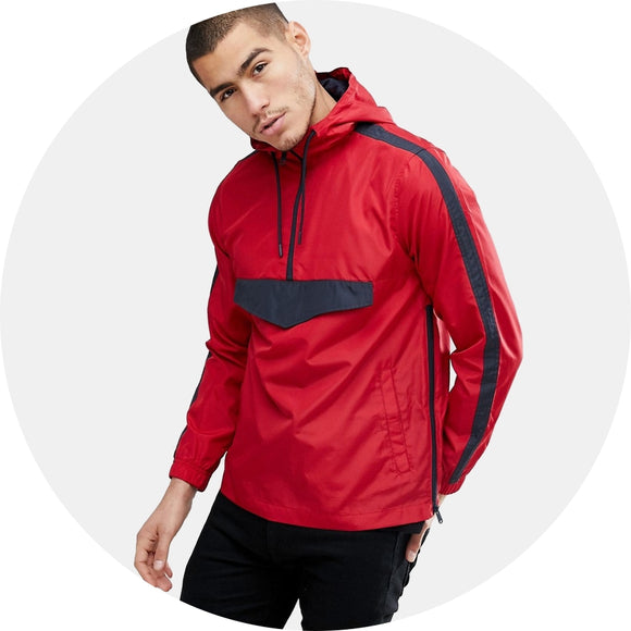 Half Zip Nylon Windbreaker