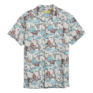 Scales Trim Fit Print Sport Shirt