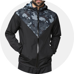 Camo Panel Windbreaker