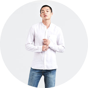 Mandarin Collar One Pocket Shirt
