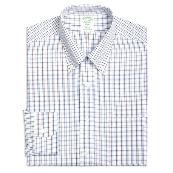Milano Slim Fit Non-Iron Tattersall Shirt