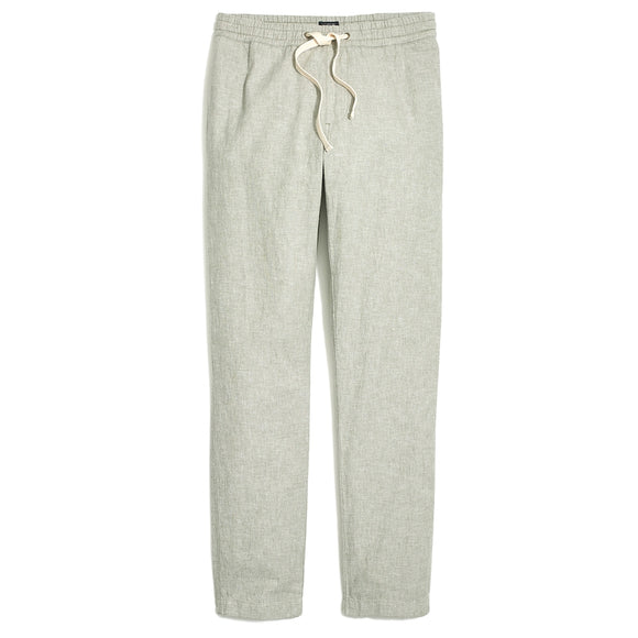 Driggs Slim-Fit Linen-Cotton Drawstring Pant
