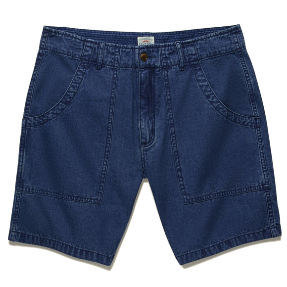 Washed Indigo Herringbone Camp Short