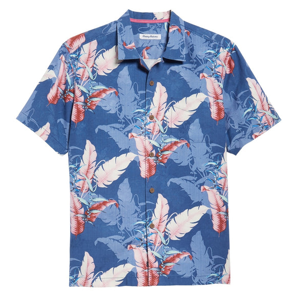 Shadow Fronds Silk Camp Shirt