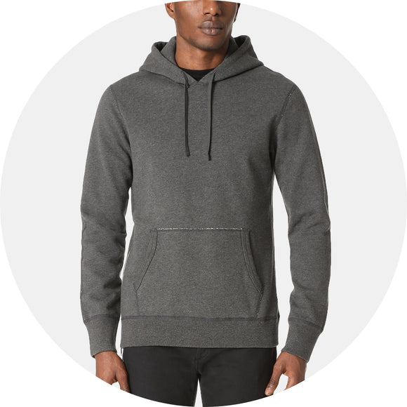 Mid Weight Terry Side Zip Hoodie