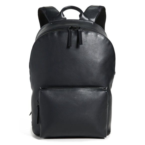 Leather Ziptop Backpack