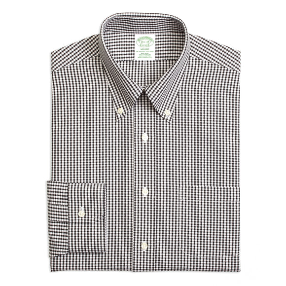 Milano Slim Fit Non-Iron Dobby Gingham Shirt