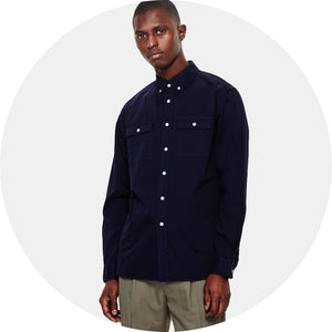 Angus Button Down Broken Twill Shirt