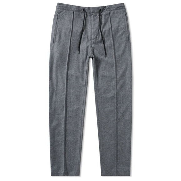 Flannel Drawstring Jogger Sweatpants