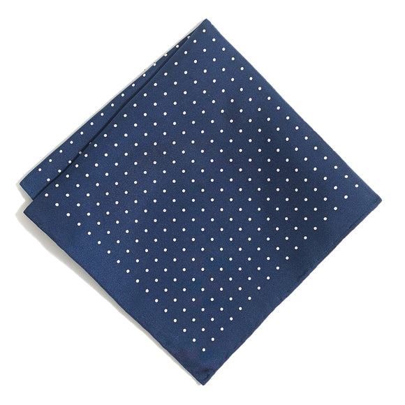 Silk Pindot Pocket Square