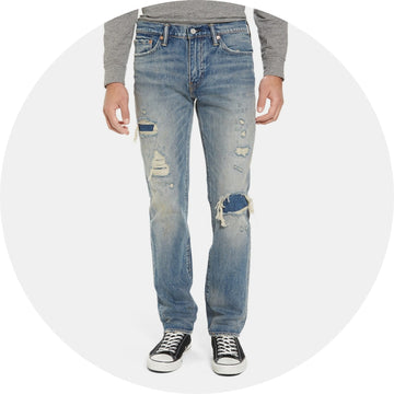 Levi's Distressed Slim Fitting Jean