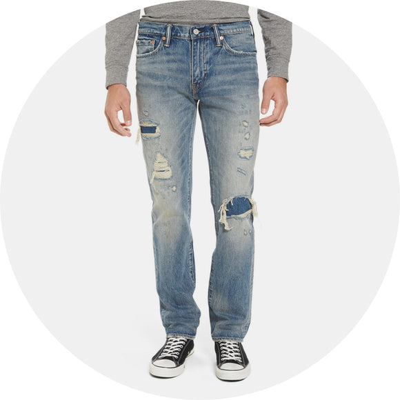 Distressed Slim Fitting Jean