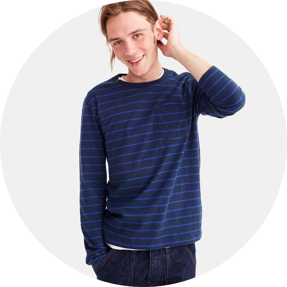 Slub Jersey Striped Long Sleeve Tee