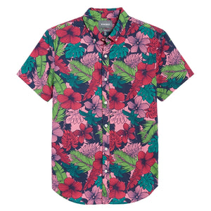 Slim Fit Floral Print Sport Shirt