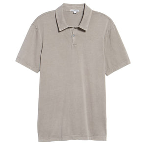 Slim Fit Sueded Jersey Polo