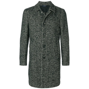 Long Sleeved Button-Up Coat