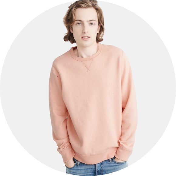 Ripped Crewneck Sweatshirt