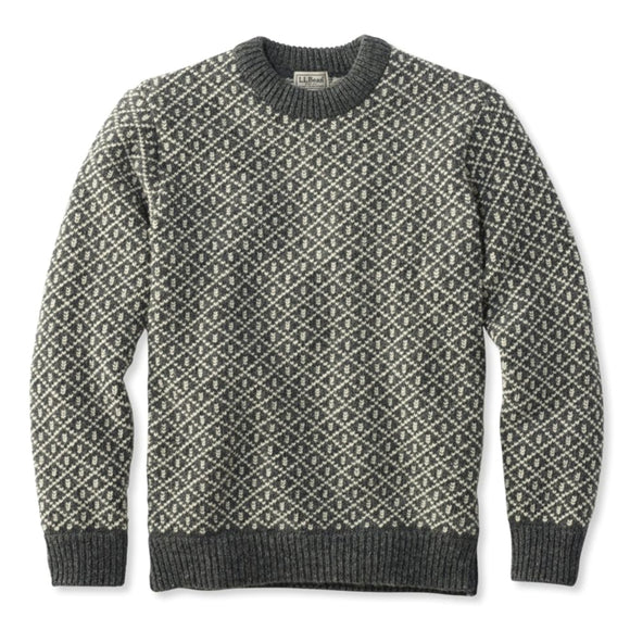 Norwegian Crewneck Lattice Heritage Sweater