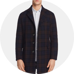 Plaid Topcoat