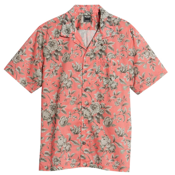 Liberty Floral Print Short Sleeve Camp Shirt