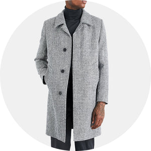 Midnight Tweed Coat