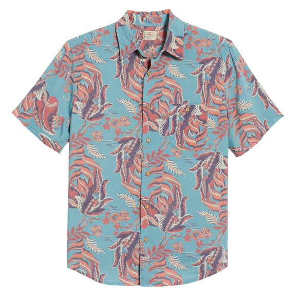 Hawaiian Print Short Sleeve Sport Shirt
