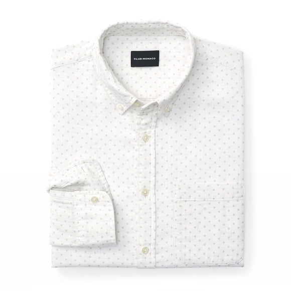 Slim Double-Faced Dot Shirt