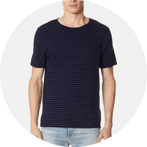 Striped Raw Edge Tee