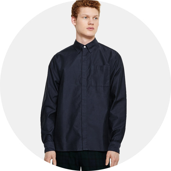 Mickey Moleskin Button Down Shirt
