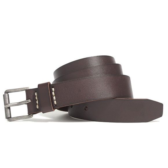 Washed Leather Roller Belt