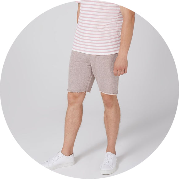 Raw Edge Jersey Short