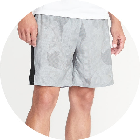 Go-Dry Printed Run Shorts
