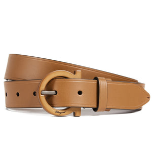 Tonal Leather Gancio Belt