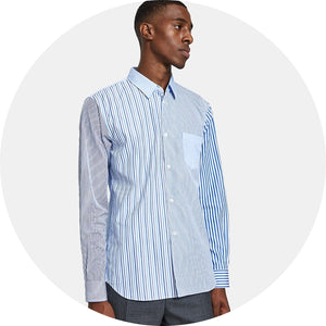 Yarn Dyed Cotton and Poplin Shirt